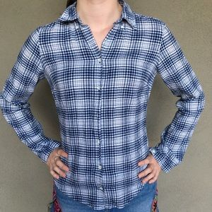 Land's End Plaid Flannel Shirt